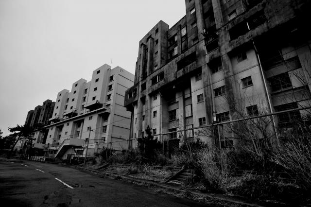 荒廃した町