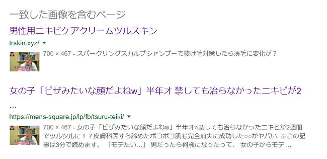ツルスキンのステマサイトが画像検索で表示される